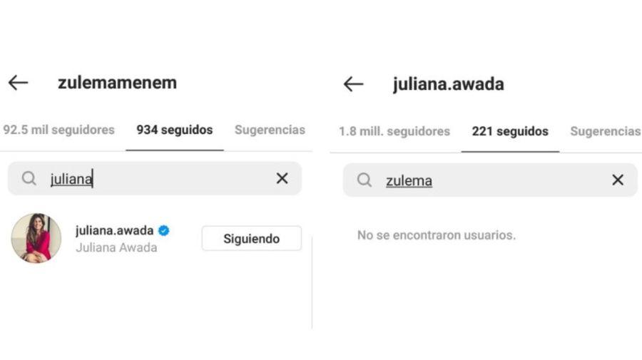 Zulemita Menem y Juliana Awada en Instagram