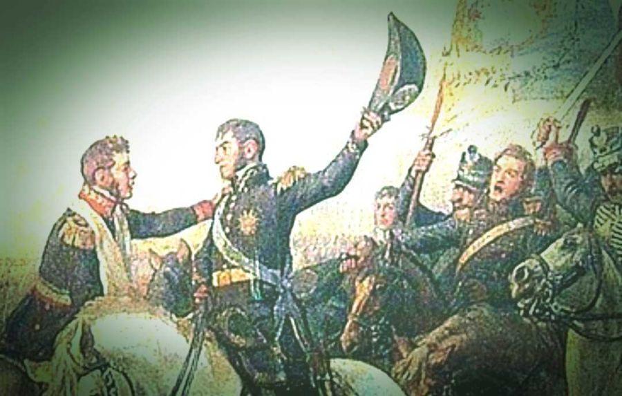 Bernardo O'Higgins y José de San Martín en