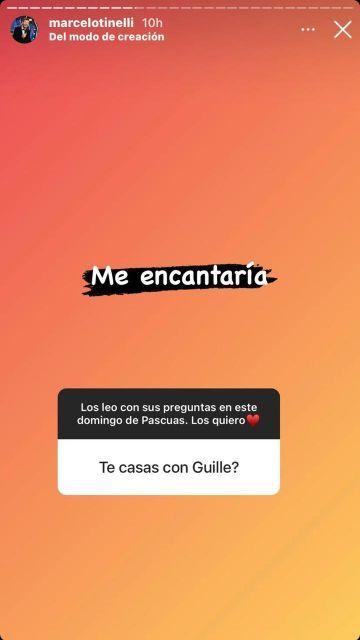 Marcelo Tinelli se quiere casar con Guillermina Valdés