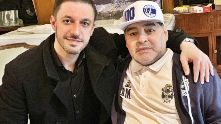 Matías Morla y Diego Armando Maradona