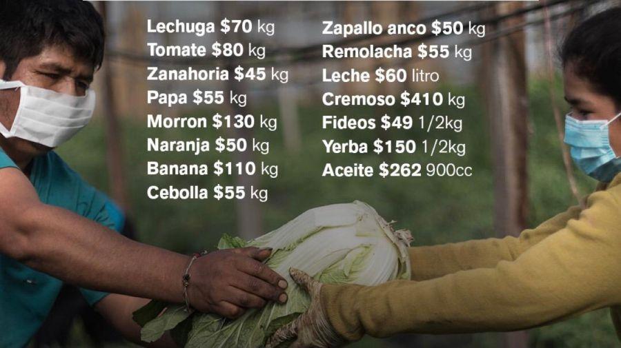 Precios de frutas y verduras