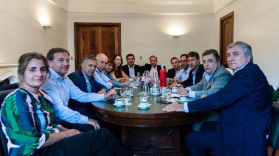 La mesa de Juntos por el Cambio.