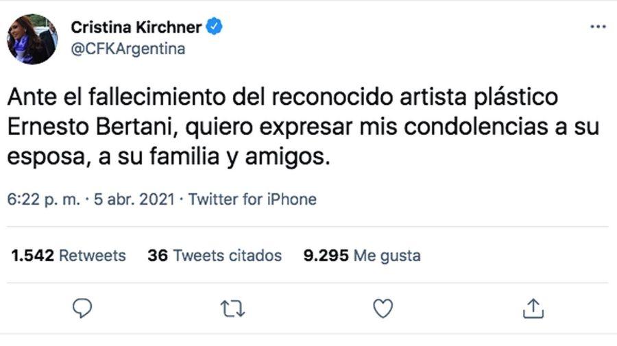 Muerte del Artista Ernesto Bertani 20210406