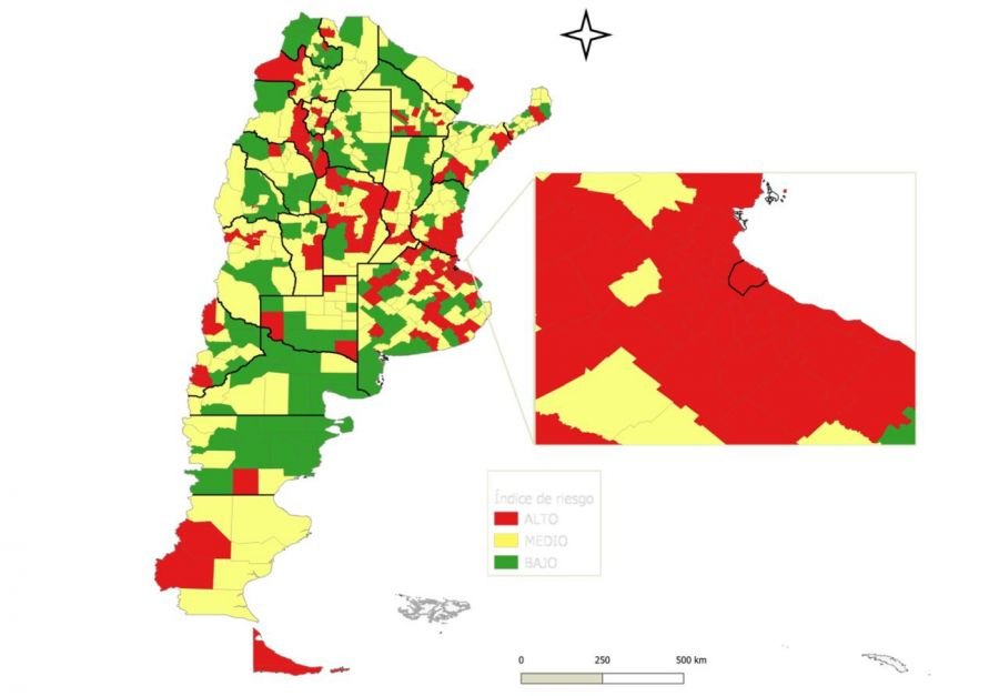 El mapa de los distritos con más riesgo epidemiológico
