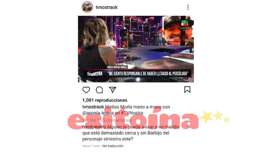 Mensaje Romina Pereiro enojada con Jorge Rial