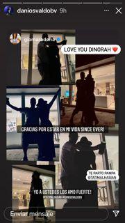 Daniel Osvaldo le hizo una pública declaración de amor a Gianinna Maradona
