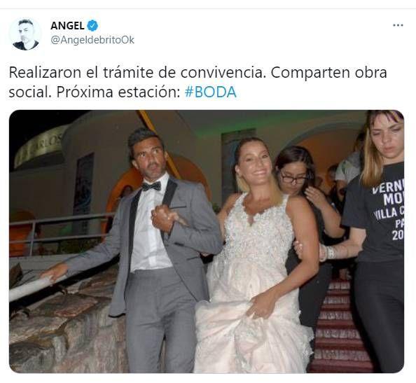 Mica Viciconte y Fabián Cubero firmaron la unión convivencial
