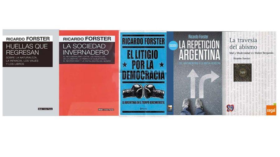 Algunos de los libros de Ricardo Forster.
