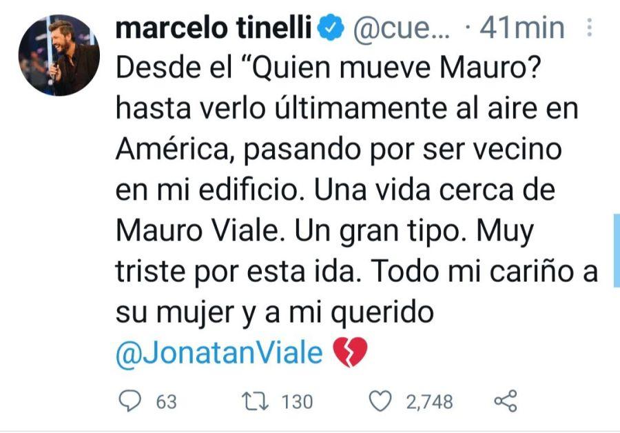 Conmoción por la muerte de Mauro Viale: la palabra de Jorge Rial y Marcelo Tinelli