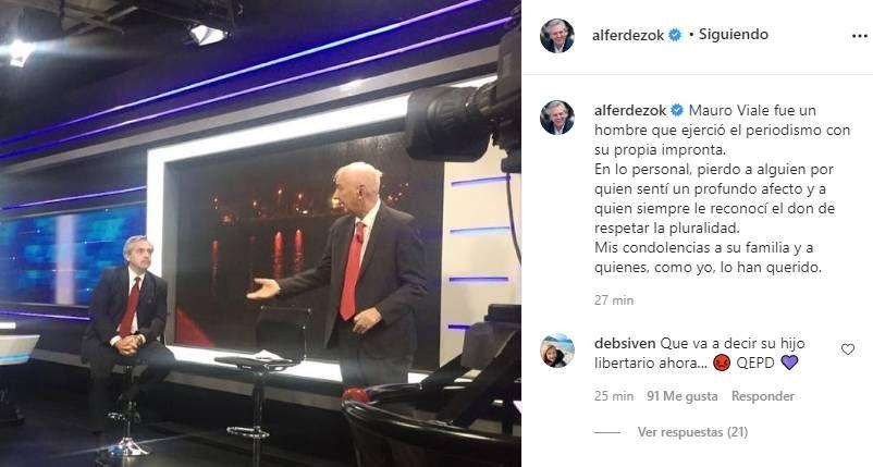 El mensaje de Alberto Fernández a Mauro Viale