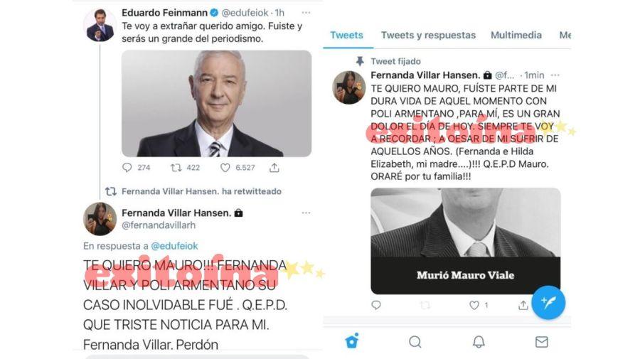 Maria Fernanda Villar despide a Mauro Viale
