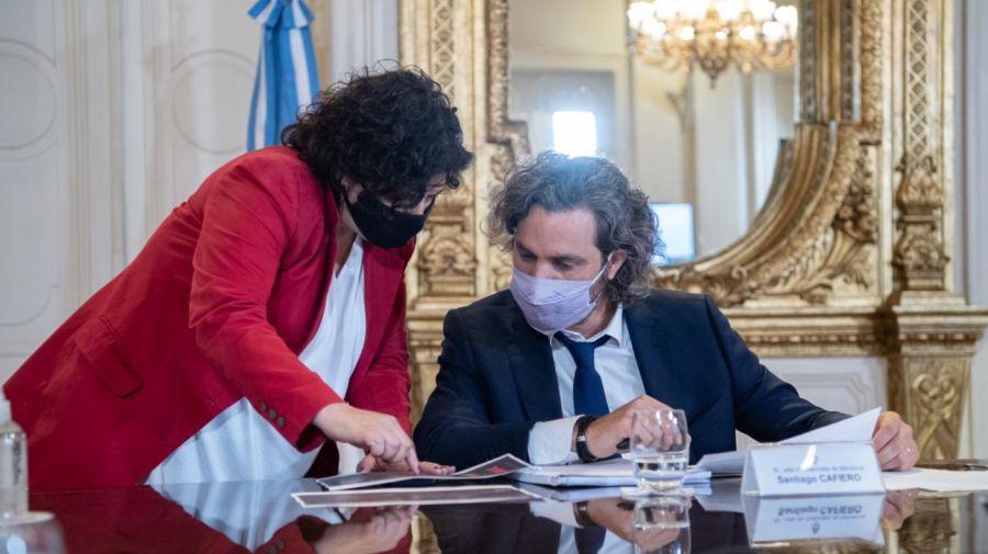 Santiago Cafiero carla vizzotti g_20210412