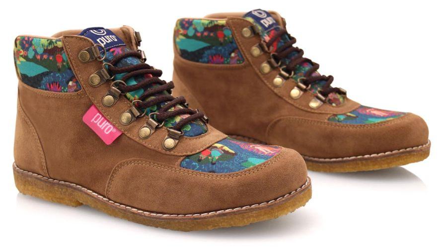 Botas de Puro, marrón con estampados