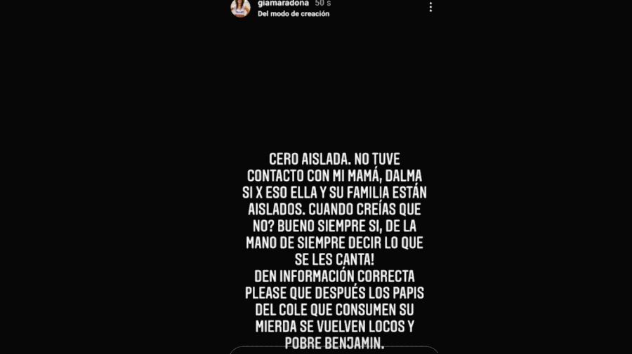 Gianinna Maradona historias 1304
