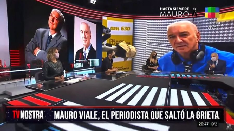Jorge Rial - barbijo - TV Nostra