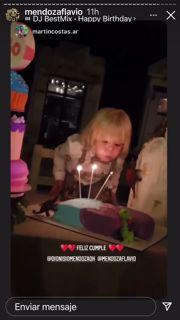 Las fotos del festejo de cumpleaños de Dionisio, el hijo de Flavio Mendoza
