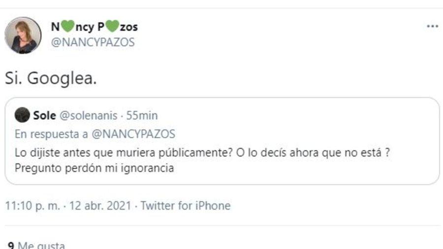 Nancy Pazos mensaje contra Mauro Viale
