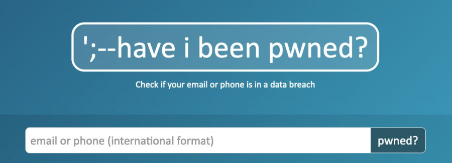 Portada del sitio Have I Been Pwned.