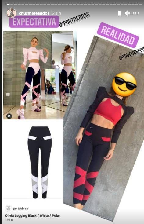 Acusan a la China Suárez de copiar los diseños de su ropa deportiva