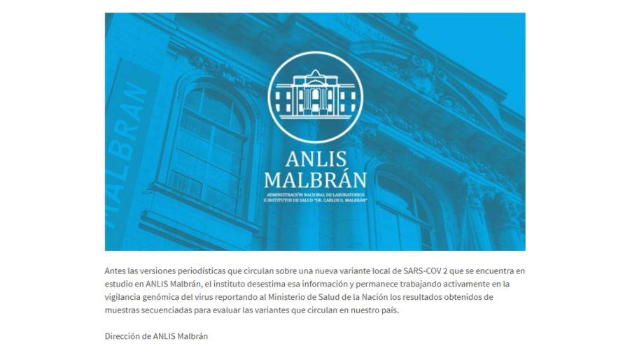 Malbrán Cepa Buenos Aires
