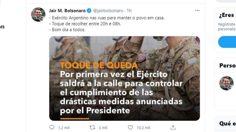 tuit de Bolsonaro 20210415