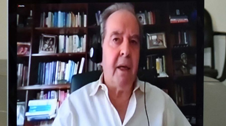 José Luis Machinea, en la entrevista con Jorge Fontevecchia.