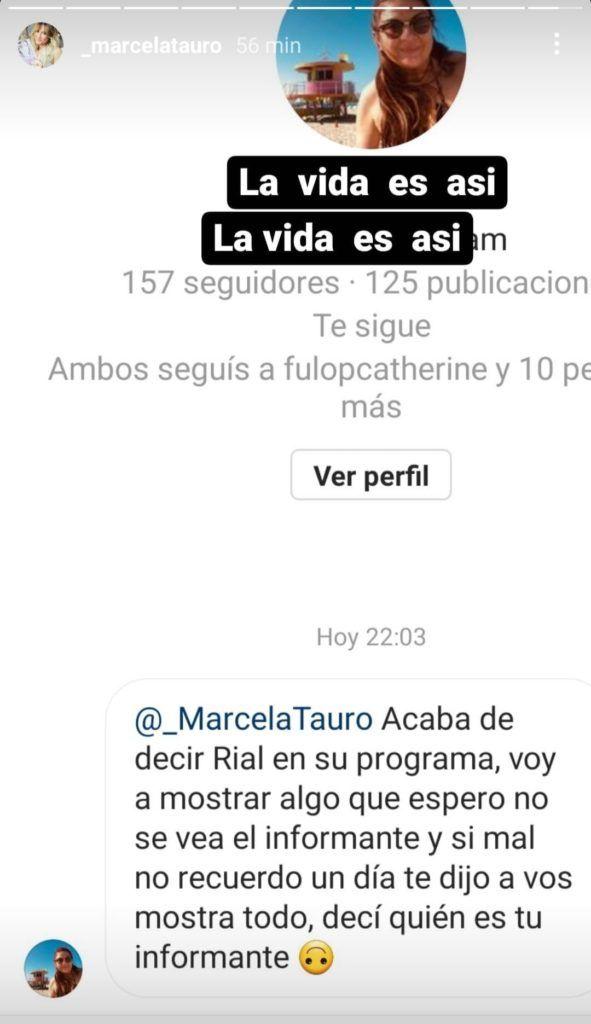 Marcela Tauro se refirió a la pelea con Jorge Rial que la dejó afuera de Intrusos