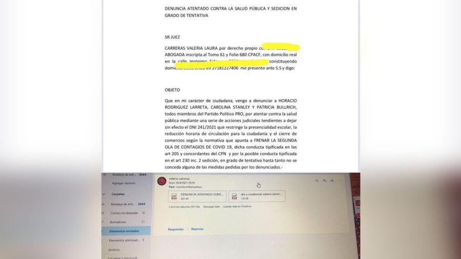 atentado a la salud pública y sedición 20210419