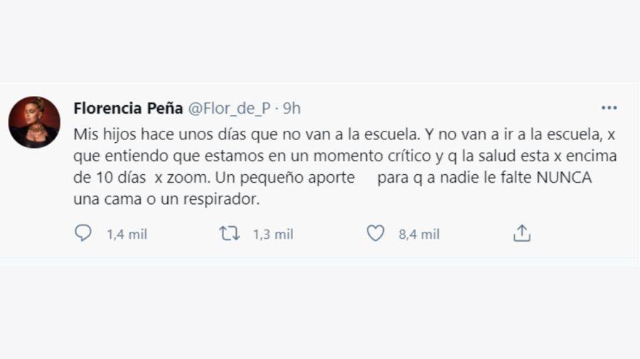 Florencia Peña tuit 1904