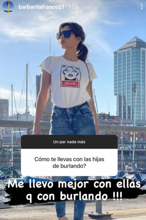 La sorpresiva declaración de Barby Franco sobre las hijas de Fernando Burlando