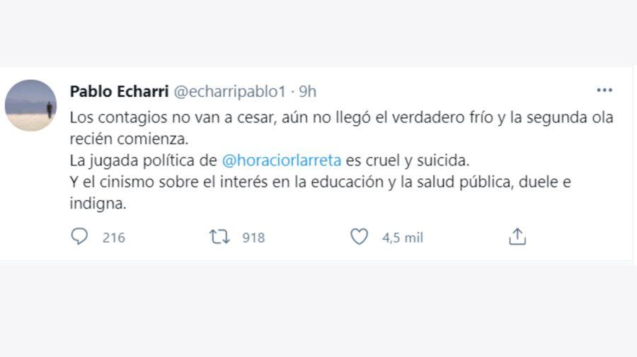 Pablo Echarri tuit 1904