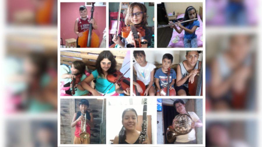 2021 20 04 Orquesta Escuela de Berisso Instrumentos