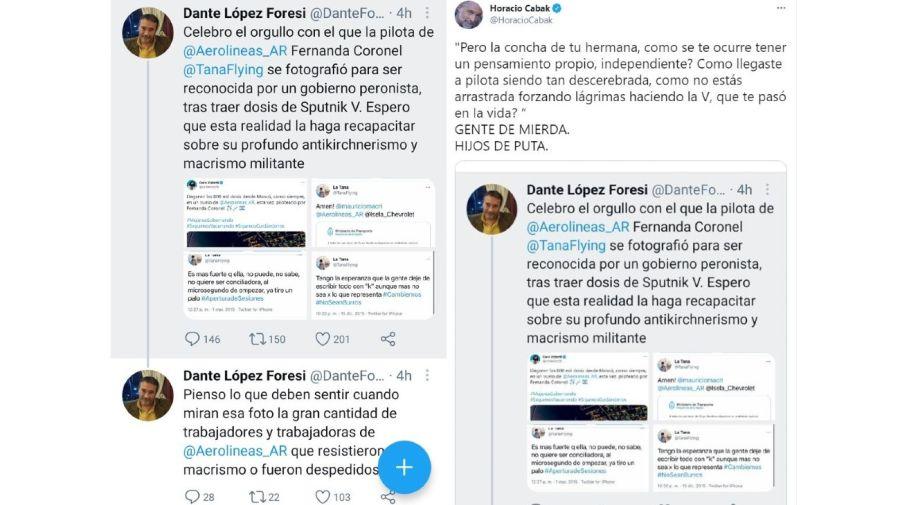 Horacio Cabak contra Dante Lopez Foresi