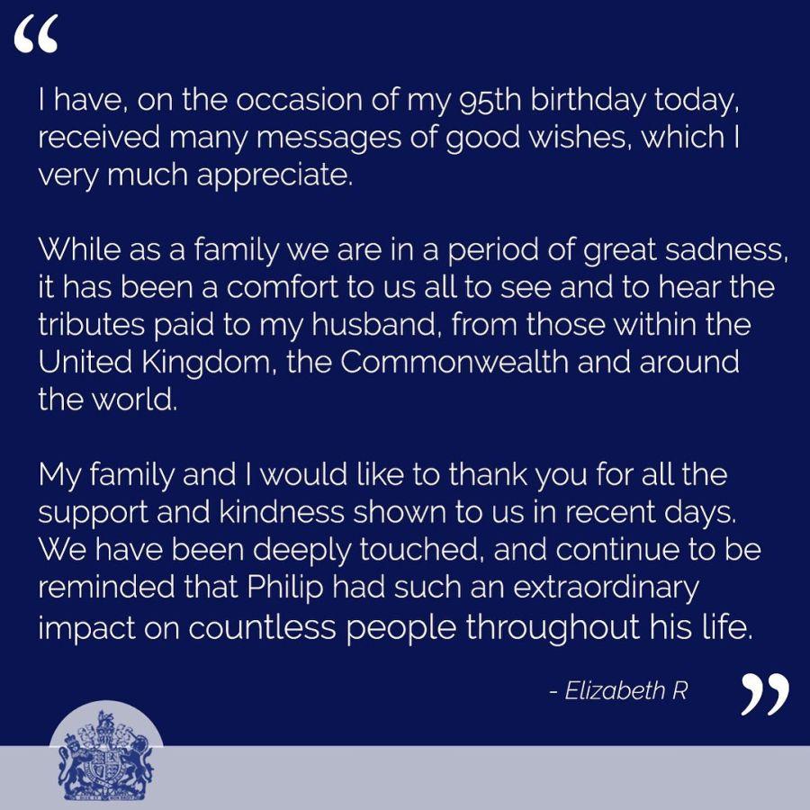 La reina Isabel II cumplió 95 años: cómo será el festejo tras la muerte de Felipe