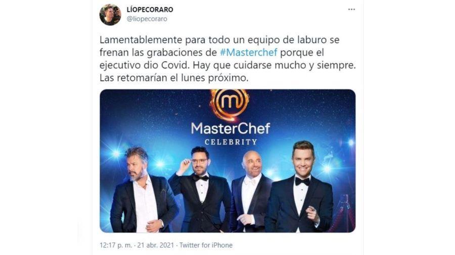 MasterChef Celebrity grabaciones suspendidas