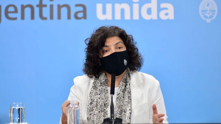 Ministra de Salud Carla Vizzotti.