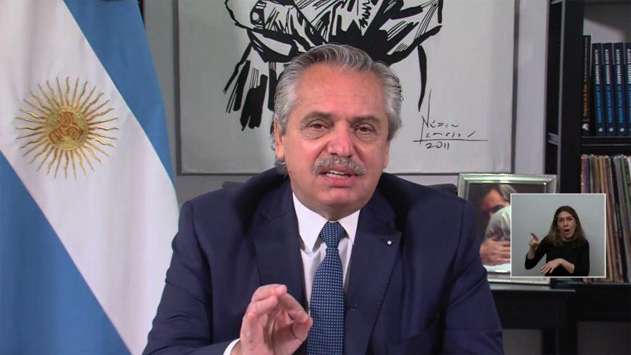 El presidente Alberto Fernández participa de manera virtual de la