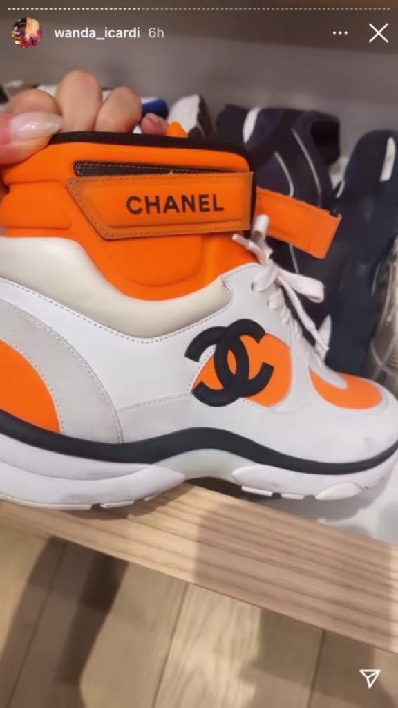 ¡Es un lujo millonario! Así es la colección de zapatillas deportivas de Wanda Nara