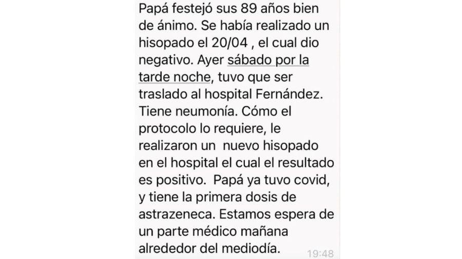 Cacho Fontana covid positivo segunda vez