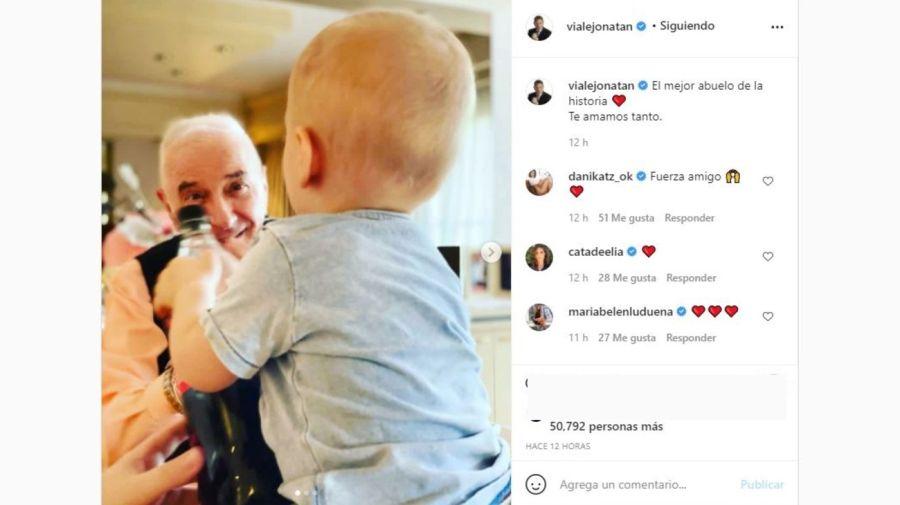 Jonatan Viale, Mauro Viale y su nieto