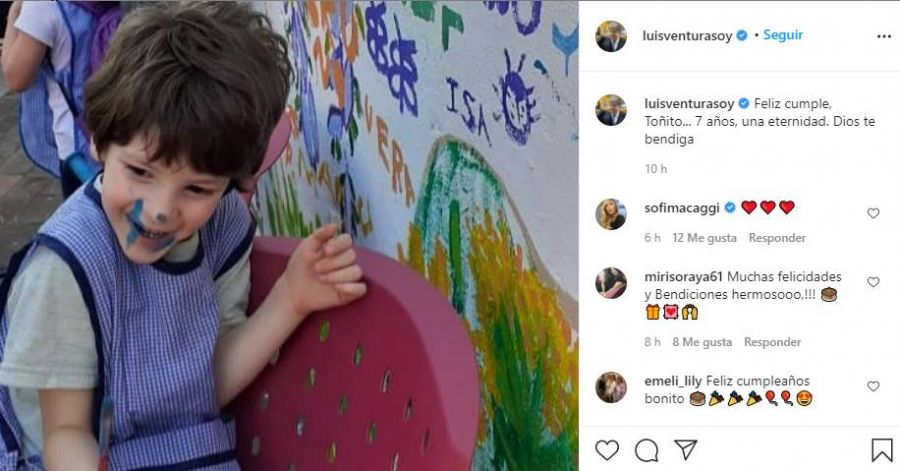 El emotivo mensaje de Luis Ventura a Antonito, su hijo menor