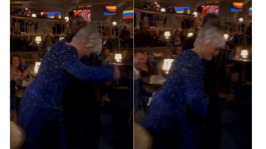 Glenn Close bailando en los Oscars