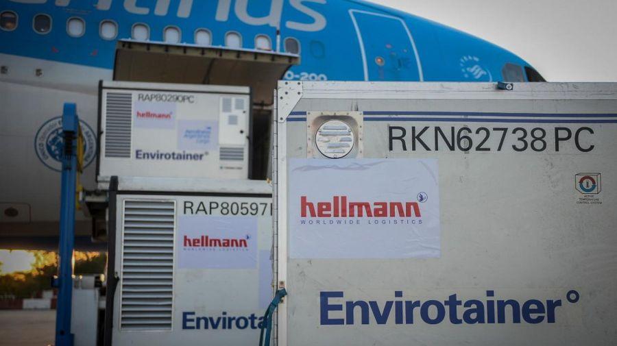 Las vacunas son empacadas en otros contenedores llamadosEnvirotainers