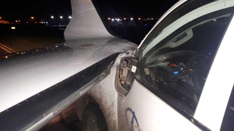 choque de una camioneta con un jet en el aeropuerto de san fernando 20210428