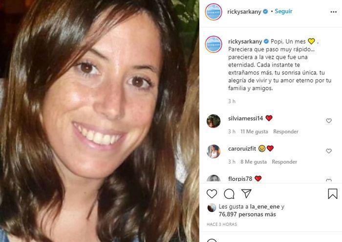 El desolado mensaje de Ricky Sarkany a un mes de la muerte de Sofía