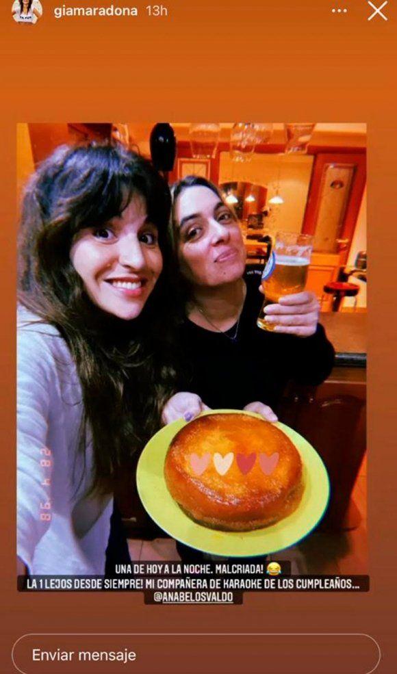 La foto cómplice de Gianinna Maradona con la hermana de Daniel Osvaldo