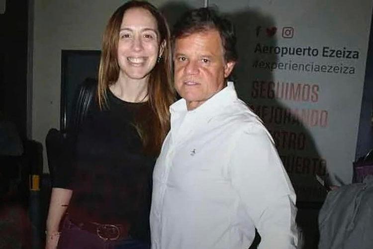 María Eugenia Vidal y Quique Sacco