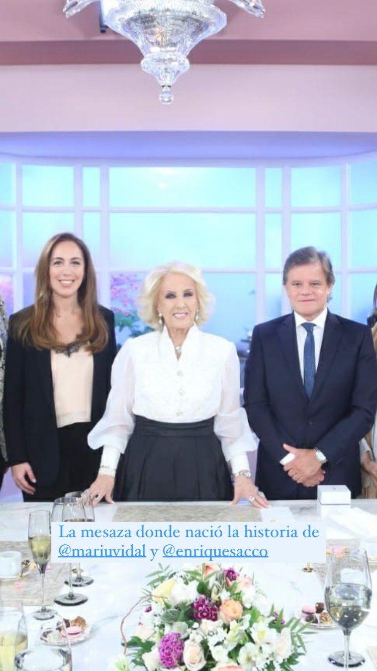María Eugenia Vidal y Quique Sacco recordaron cuando se conocieron