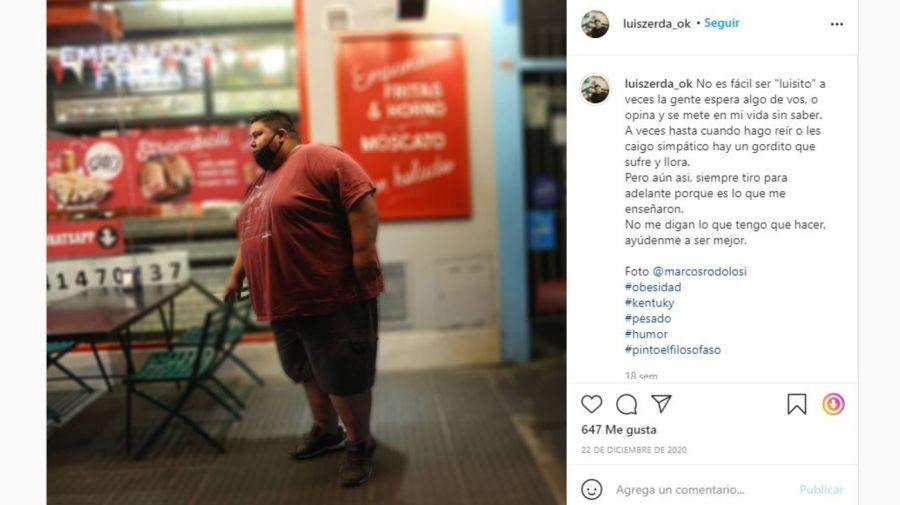 El mensaje de Luisito de Cuestion de Peso