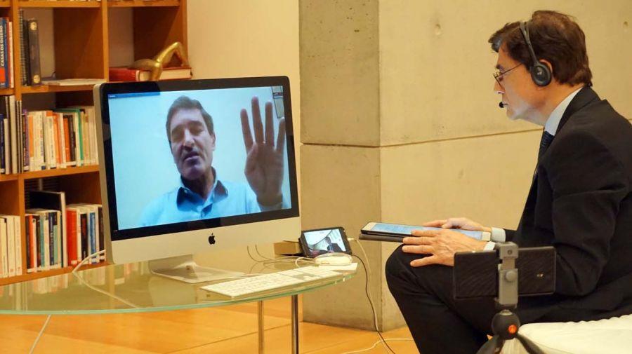 Fernán Quirós, en la entrevista con Jorge Fontevecchia.